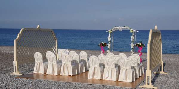 Atrium Palace beach wedding